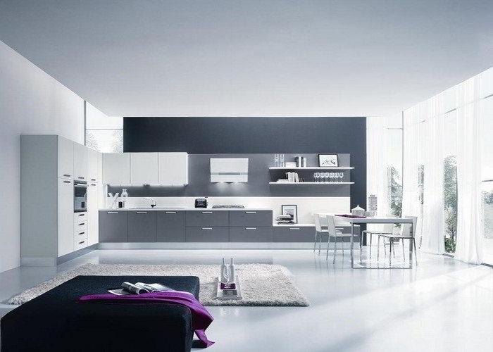 Cucina moderna love da quellidicasa a chirignago mestre venezia - Cucina moderna bianca e grigia ...