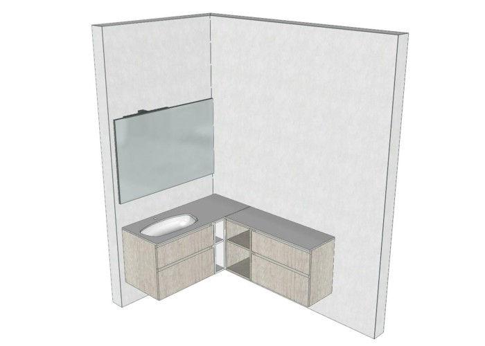 Mobile bagno angolare 4 progetti del negozio di mestre for Mobile angolare bagno