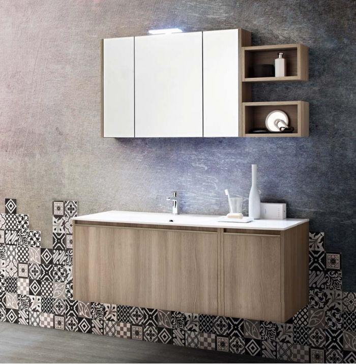 Mobili bagno a venezia mestre mobili bagno moderni sospesi o a terra - Mobile bagno asimmetrico ...