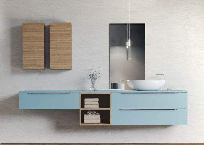 ... è la collezione di mobiletti per il bagno giovane che deve durare