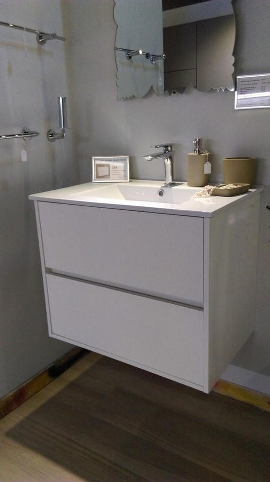 Top Mobile Bagno: Mobile sospeso Ardeco Easy Line TOP Kubik metallo Borgoceramica.