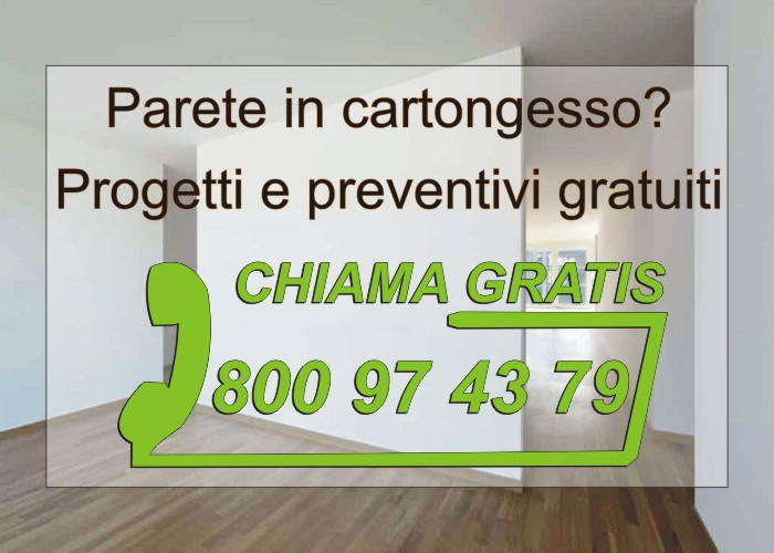 pareti in cartongesso preventivi e numero verde