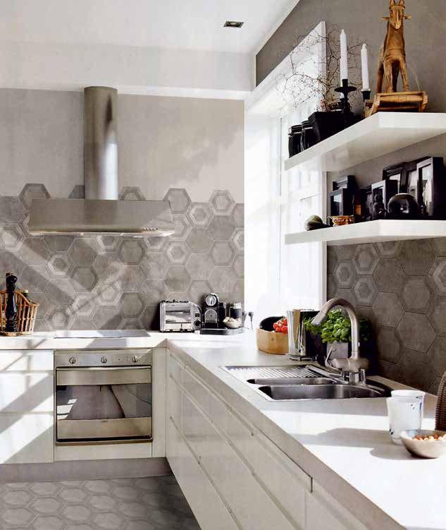 Piastrelle esagonali a chirignago mestre venezia da quellidicasa - Piastrelle da cucina ...