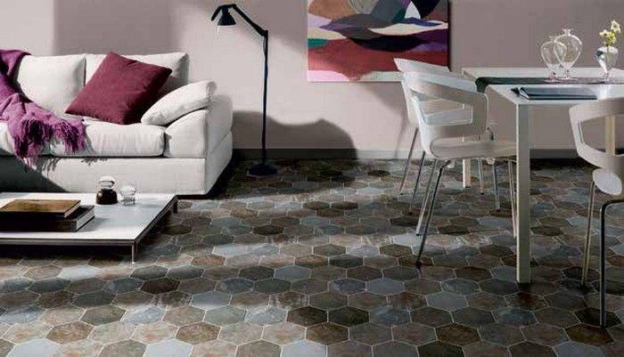 Piastrelle esagonali gres porcellanato piastrelle effetto legno a