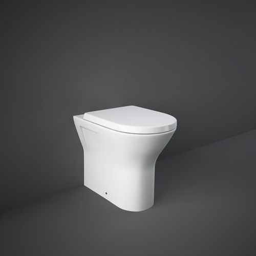 sanitario Rak wc Resort Rimless a terra bianco lucido