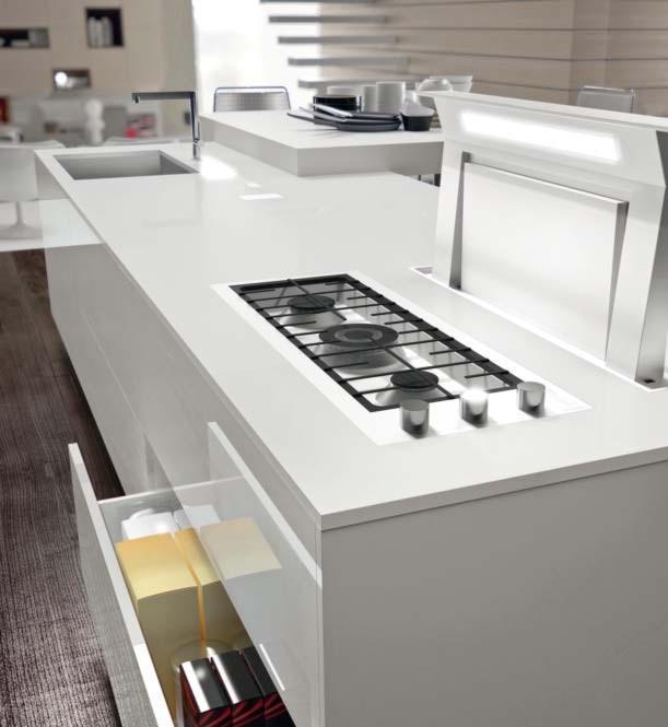 Top cucina e piani lavoro i migliori consigli su quali materiali e quali finiture - Piano cucina quarzo ...