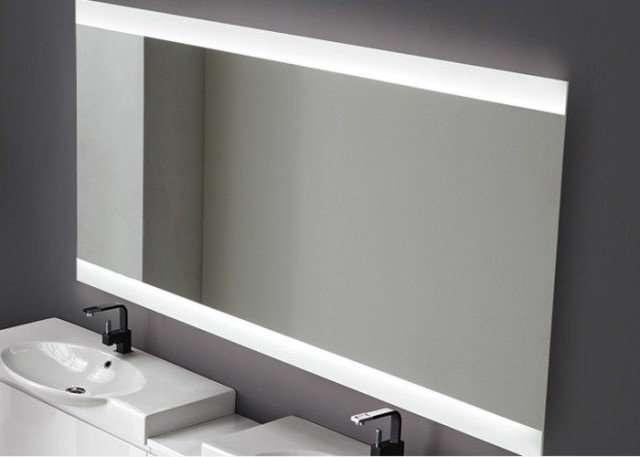 specchio da bagno vela retroilluminato con led