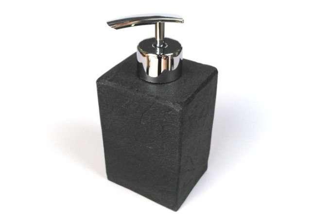 dispenser sapone accessorio da bagno in pietra nera