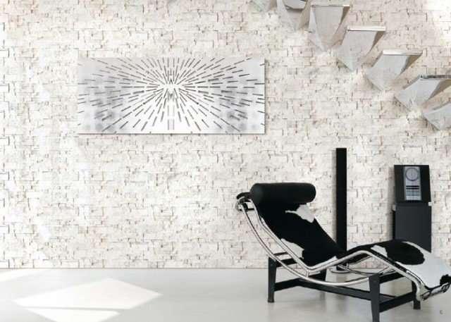 pietra bianca per muretto interno