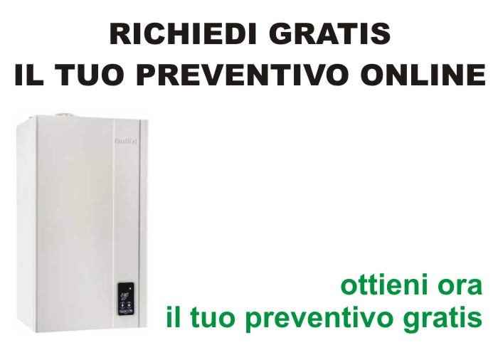 gratis preventivo costo caldaia
