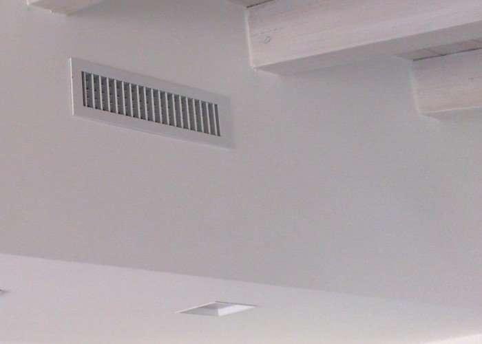 bocchetta a parete per condizionatore canalizzato
