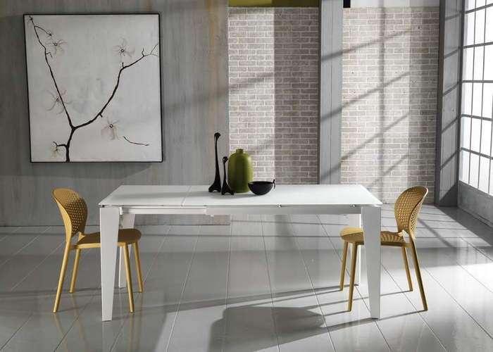 tavolo allungabile colore bianco