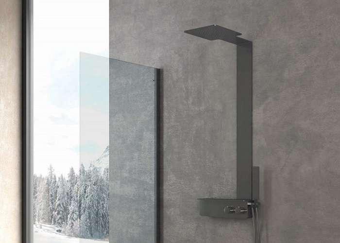colonna doccia in acciaio ADATTE AL CONTRIBUTO DEL BONUS IDRICO