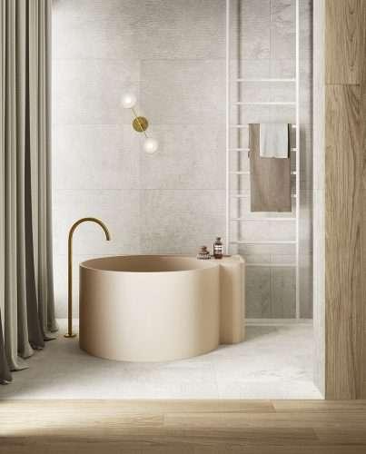 Piastrelle bagno gres Lavaredo effetto Pietra Venezia Treviso
