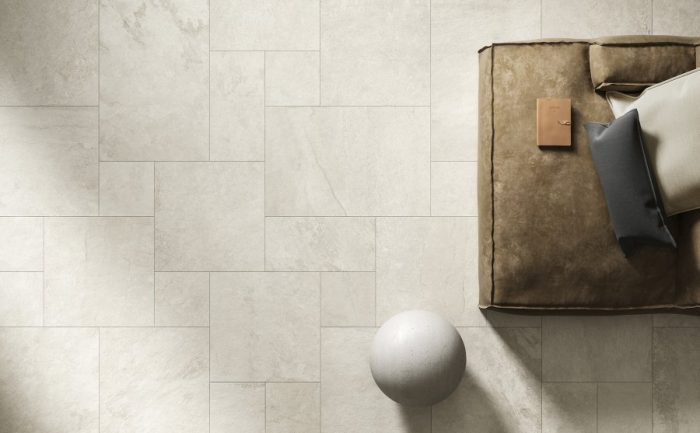 Piastrelle pavimento gres Lavaredo effetto Pietra Venezia Treviso