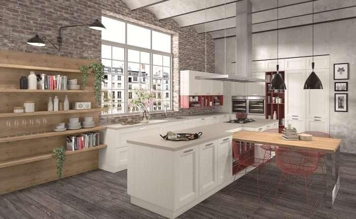Cucina moderna in legno Angel