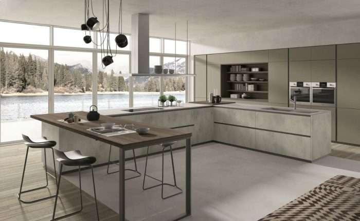 cucina moderna con gola serie Lab