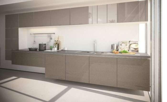 cucina moderna sospesa con gola Systema