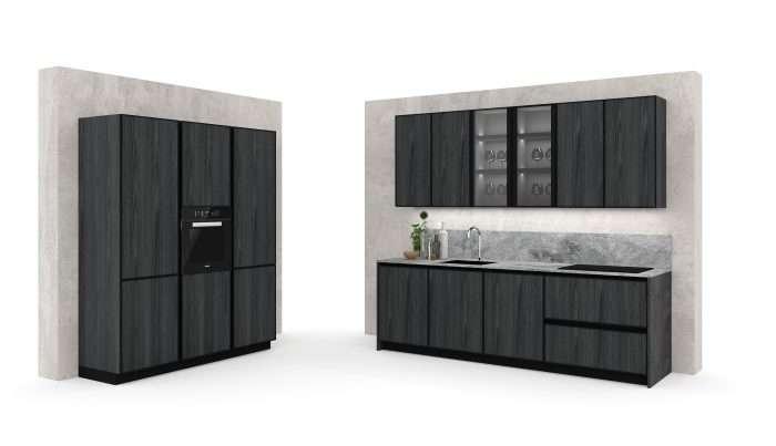 cucina moderna con gola nera e fianconi