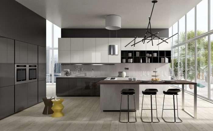 cucina in vetro modello Glass zona Venezia Treviso