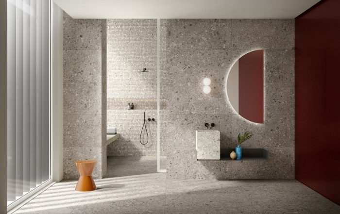 bagno gres porcellanato effetto pietra stelvio